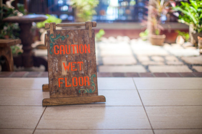 wet floor sign: Lorenzo & Lorenzo's Premises Liability Blog