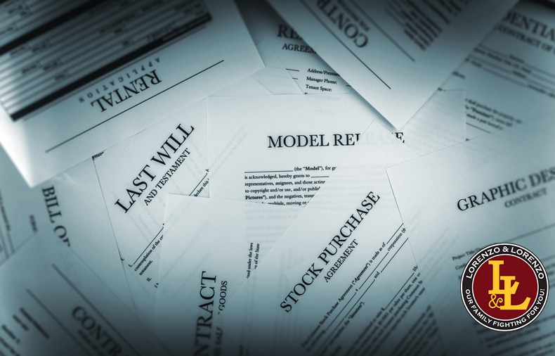 personal injury legal documents