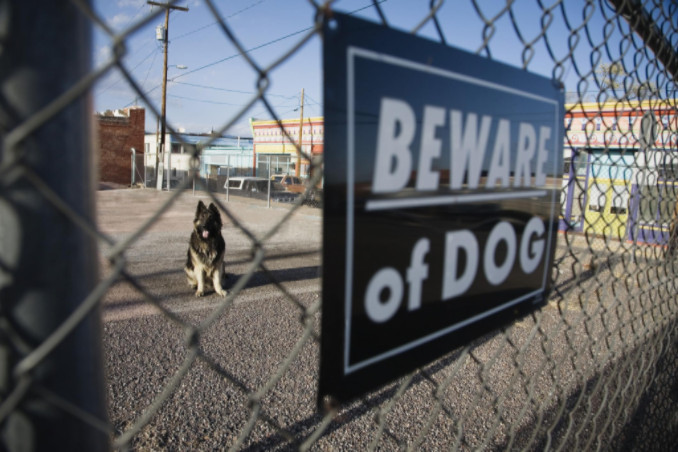 Beware of dog sign: Lorenzo & Lorenzo Premises Liability Blog