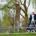 Elderly woman walking in park: Lorenzo Premises Liability Blog